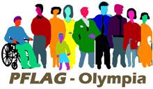 PFLAG Olympia Rainbow People Logo